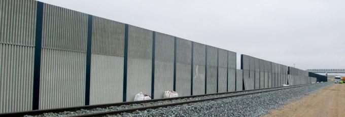 Pantallas acústicas linea AVE - Prefabricados Aljema, S.L.